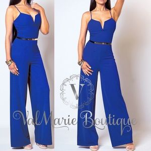Royal Blue Fitted Jumpsuit